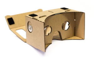 A Google Cardboard let's you view immersive 3D 360° content on your smartphone.
